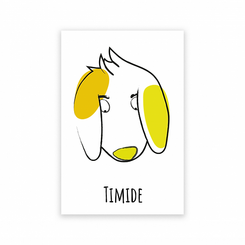 Pierrette en papier - Carte postale animotions