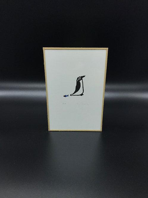 Sandrine Péron - Gravure (petite) Pingouin