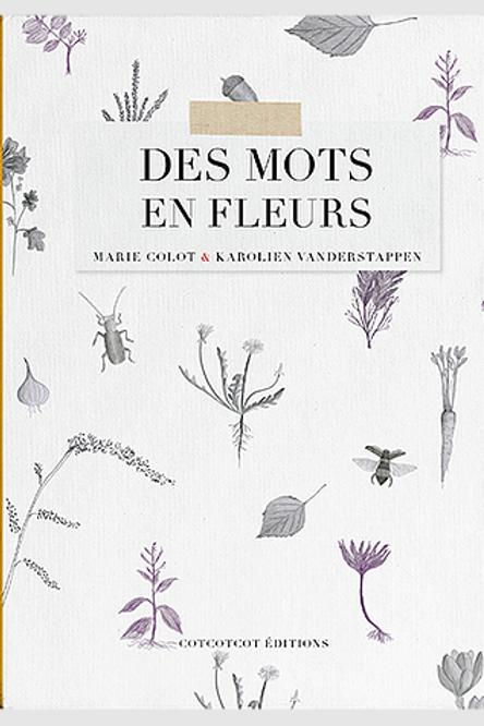 """CotCotCot éditions - """"Des mots en fleurs"""""""