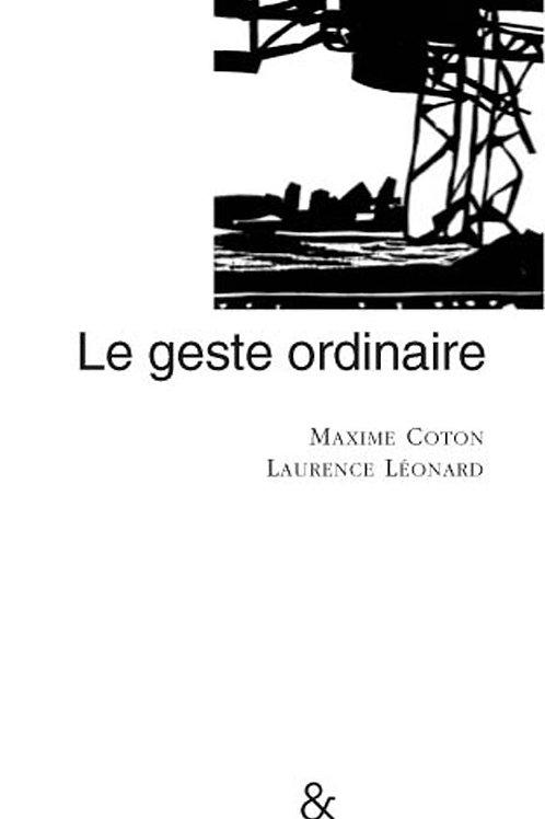 Esperluète éditions - Le geste ordinaire