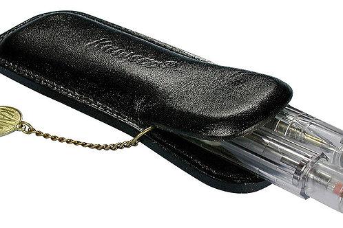 Kaweco - Pochette Sport en cuir pour 2 stylos avec médaillon Kaweco et chaîne