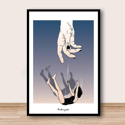 """Palm Illustrations - """"Lâcher prise"""" Affiche A4"""