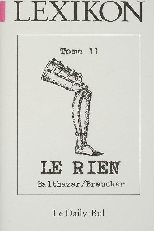 Editions Daily-Bul - Lexikon 11 / Le rien