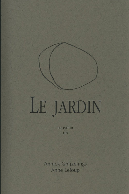 Esperluète éditions - Le jardin
