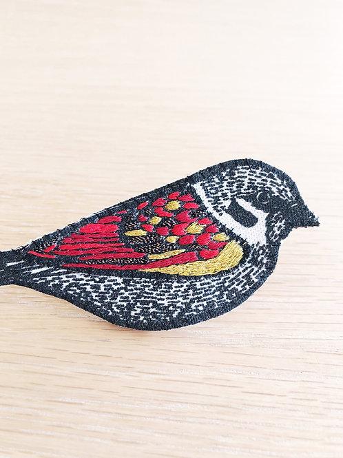 Lucette graphitextilerie - Broches oiseau