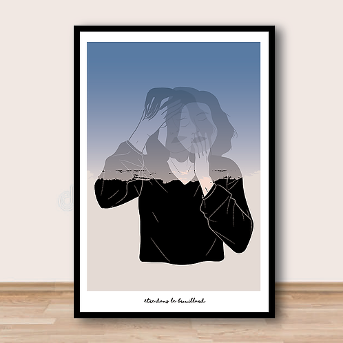 """Palm Illustrations - """"Être dans le brouillard"""" Affiche A4"""