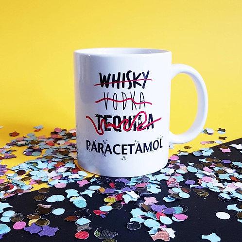 De Carton et d'Étoiles -Mug céramique «Whisky vodka tequila paracetamol»