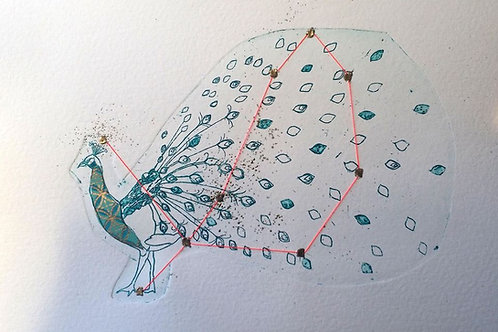 """Jeanne Picq - Gravure """"Constellation du paon"""""""