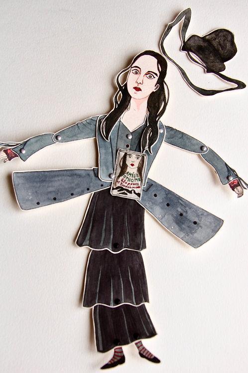 Espace Fragile - Marionnette L «Amélie Nothomb»