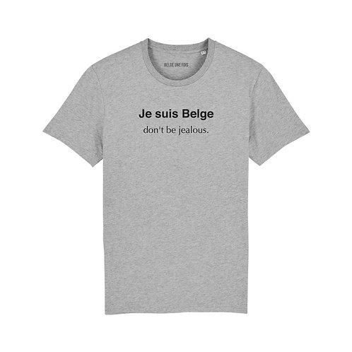 Belge une fois - T-shirt Je suis belge, don't be jealous - Homme - Taille L