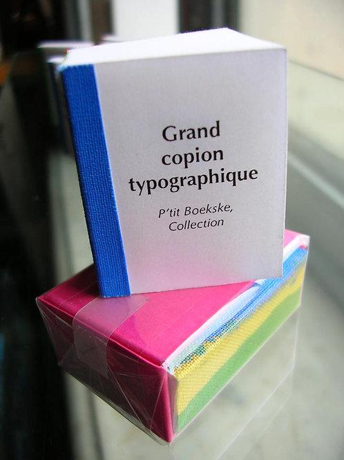 Isabelle Francis éditions - Grand copion typographique