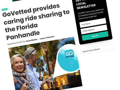 Get The Coast | GoVetted Provides Caring Ridesharing To The Florida Panhandle | GoVetted®