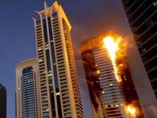 დუბაიში, სასტუმრო Address Downtown-ის რამდენიმე სართულს ხანძარი გაუჩნდა.