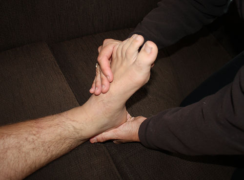 Ankle physiotherapy treatment