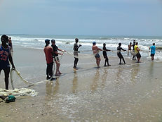 Guests fishing at Gambian Holiday Let in Tanji
