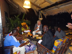 Guests at the Gambia Bird Lodge