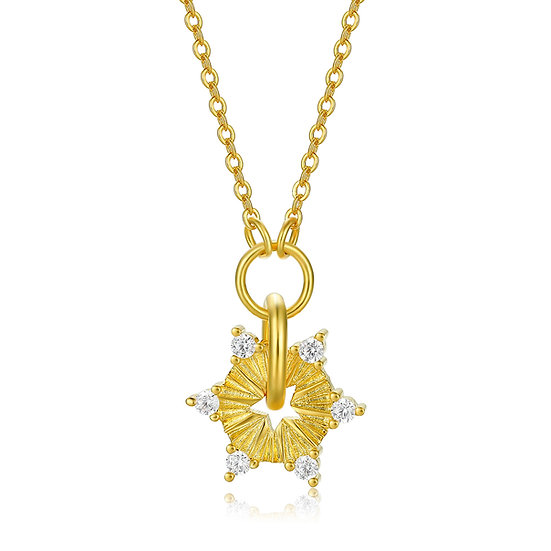 Self Badge Necklace Gold