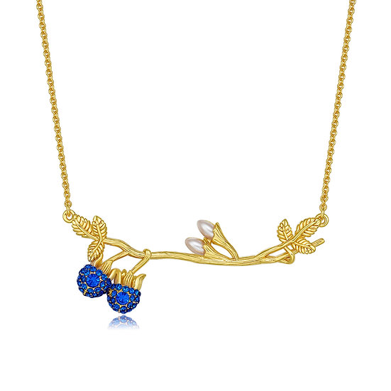 Blue Berry Necklace