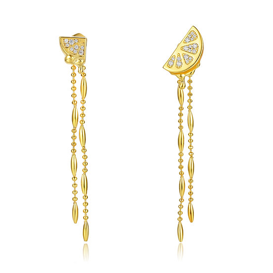 Pure Temptation Long Earrings 18Ct Gold Plate