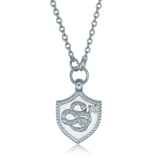 Self Badge Necklace Silver