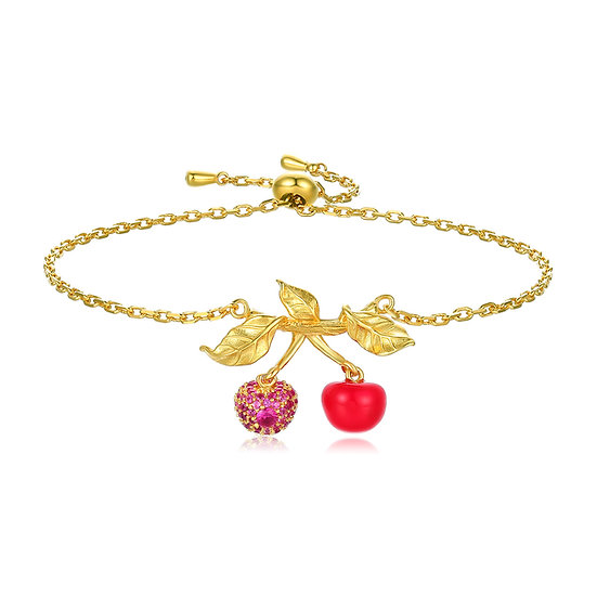Red Cherry Bracelet