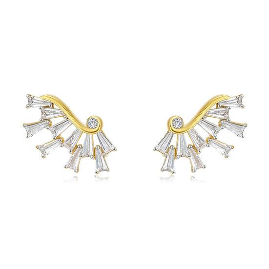Wings Of Hope Earrings 18Ct Gold Plate