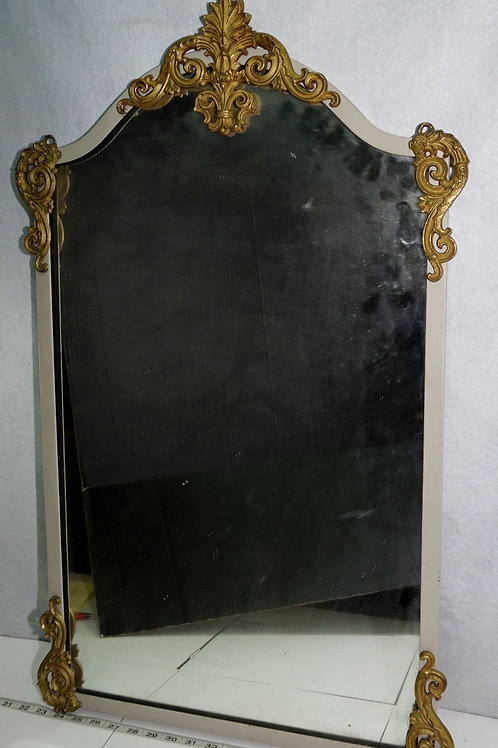 Wall Mirror With Brass Corners