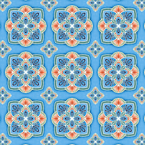 estampa giz azul