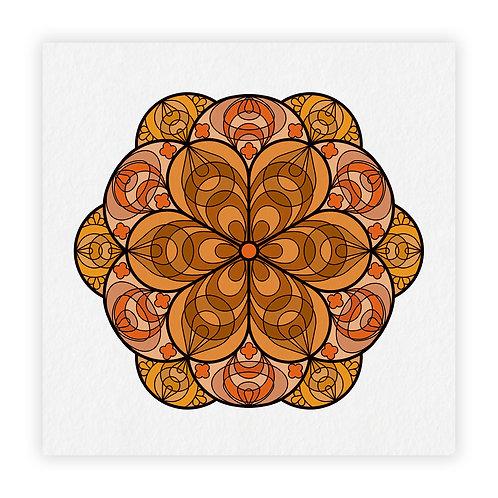 mandala fiori laranja