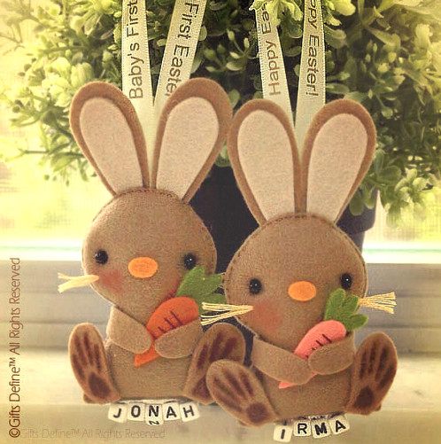 Happy easter bunny personalized gift keepsake giftsdefine a sweet any day love day gift for your special ones and for your familys easter joy group the easter baby bunny along negle Choice Image