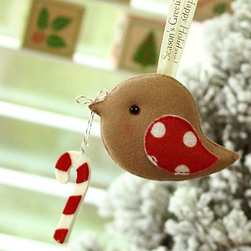 Season's Greetings Bird | Holiday Gift Ornament