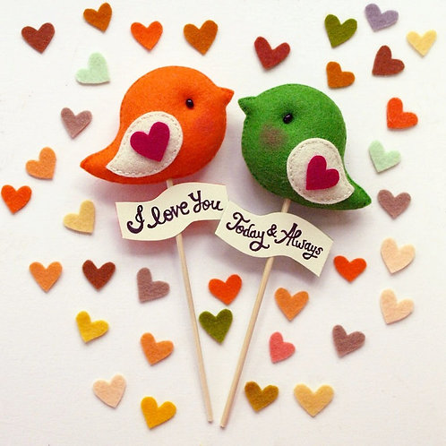 Love Birds | Personalized Party Topper
