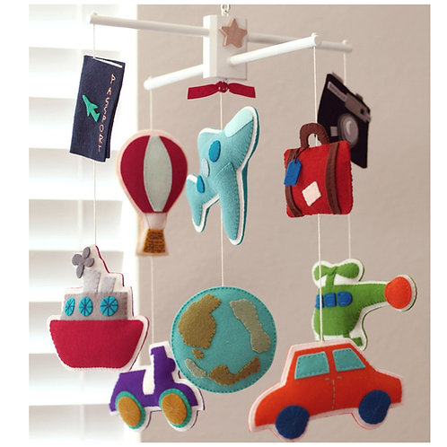 Around the World | Travelers Theme Baby Mobile