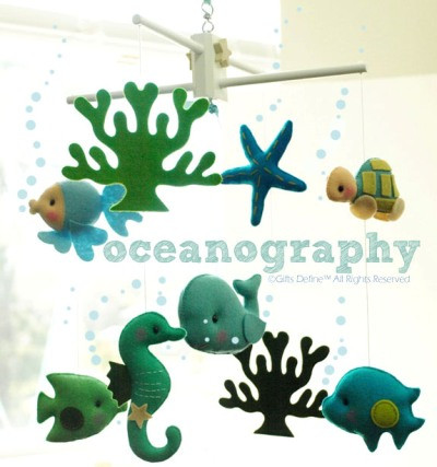 Oceanography Under the Sea Fish Musical Baby Mobile