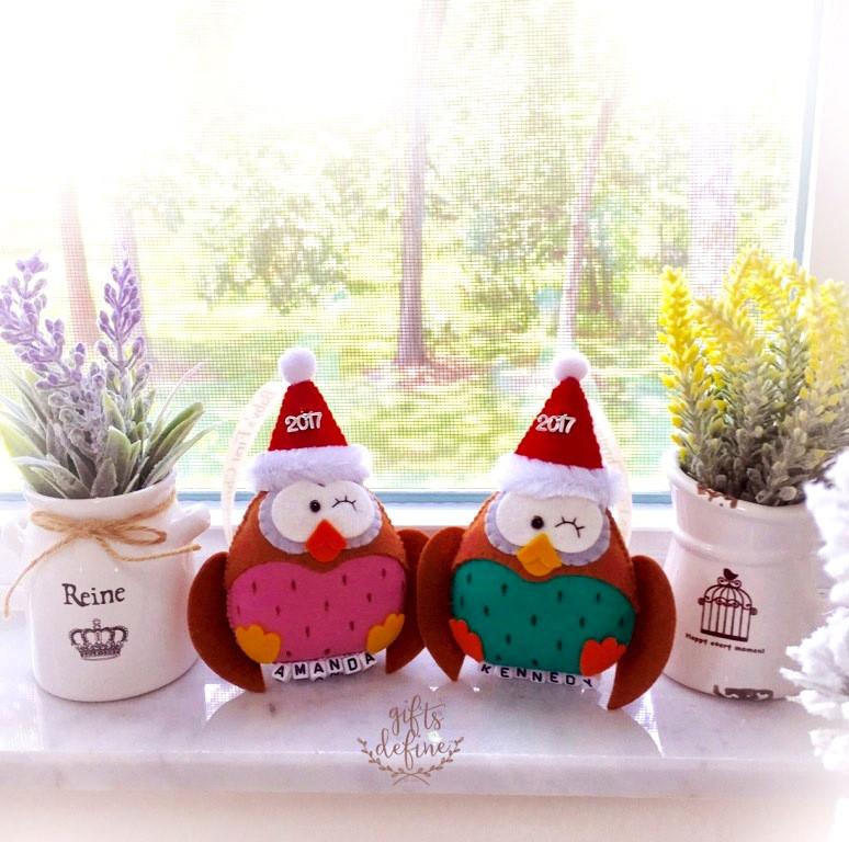 Holiday Owl Baby's  First Christmas 2017 Keepsake