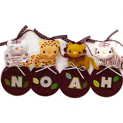 Safari Jungle Parade | Personalized Name Banner