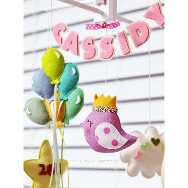 Baby Story custom nursery mobile decor