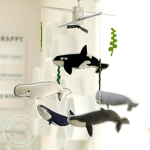 Worldwide Whales | Oceanic Theme Baby Mobile