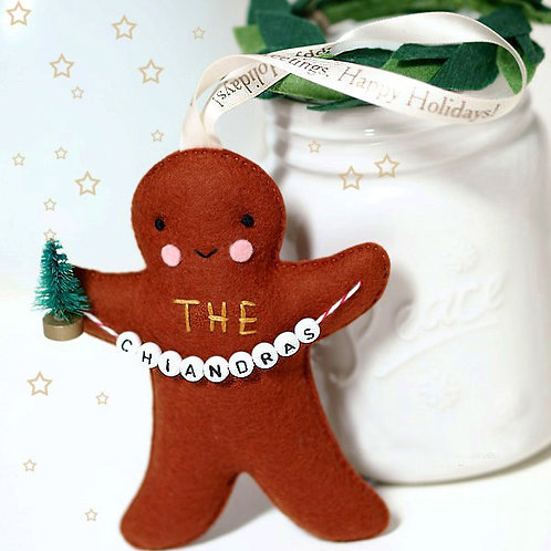 Gingerbread Friend | Personalized Holiday Ornament