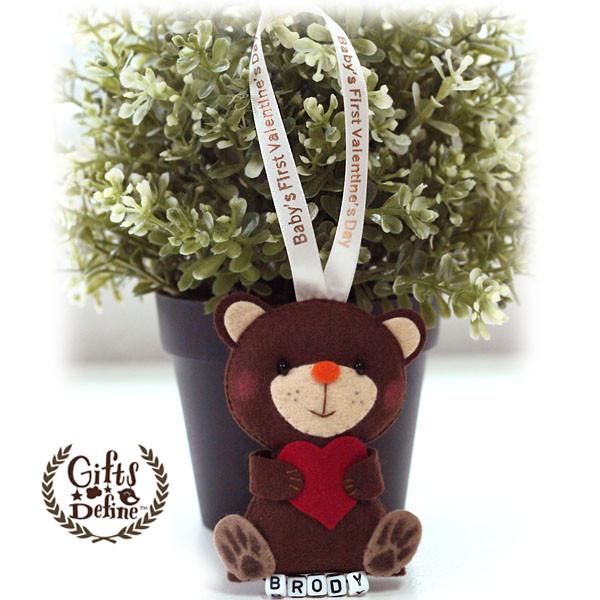 Gifts Define Baby's First Valentine's Bear Keepsake