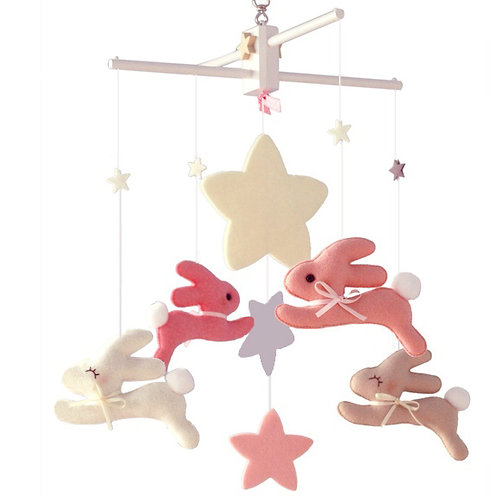 Wish Upon the Stars Bunnies | Baby Mobile