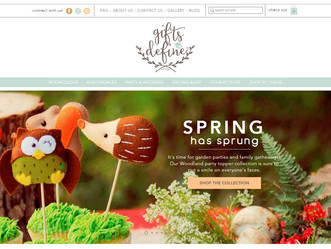 Gifts Define's Site has a Little Spring Makeover :)