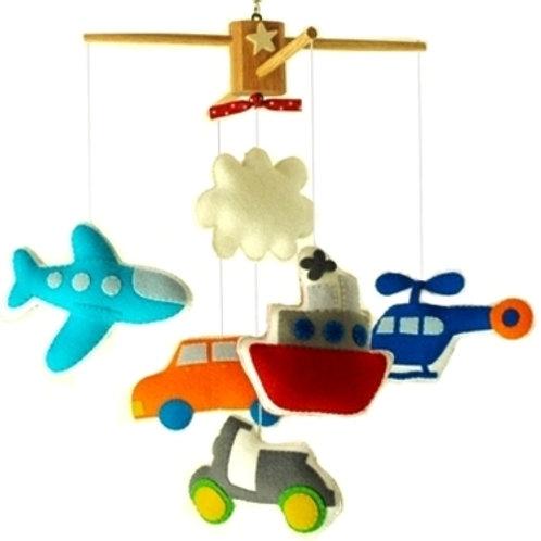 Bon Voyage | Transportation Theme Baby Mobile