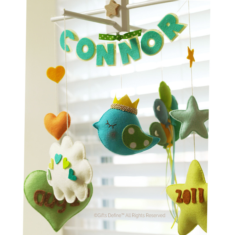 Baby Story custom personalized decorative mobile