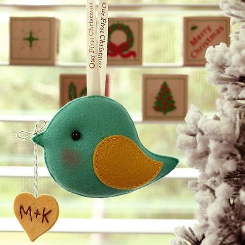 Christmas Love Greeting Bird | Couple Keepsake