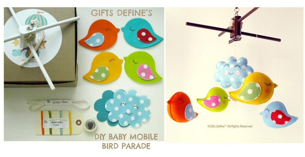 DIY Creative Kit Baby Mobile Bird Parade