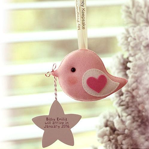 Pregnancy Announcement Greeting Bird | Keepsake