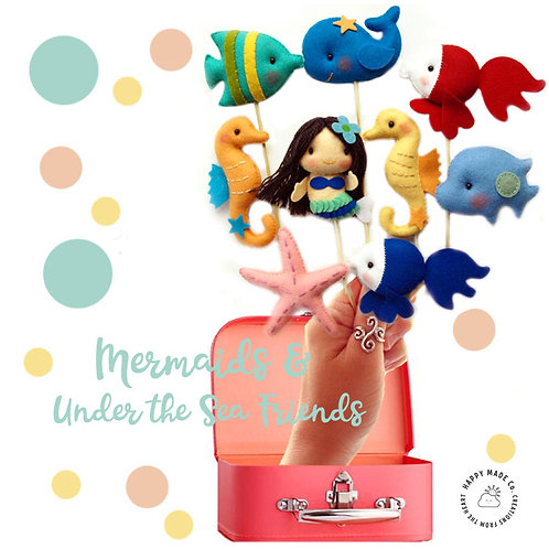Mermaid Under the Sea | Set of 4 Party Favors or Topper