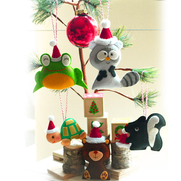 Santa Fun Animals Christmas tree ornament