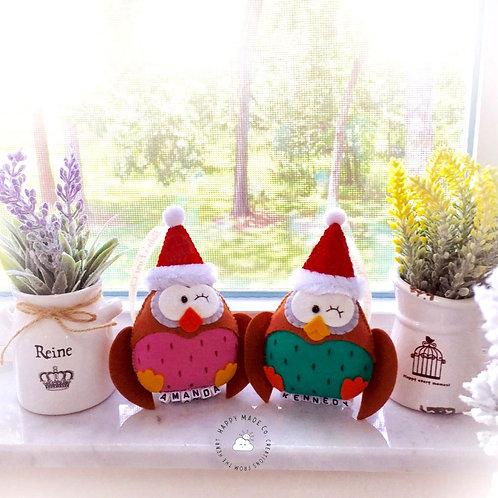 Baby's First Christmas Owl | Newborn Keepsake 2020